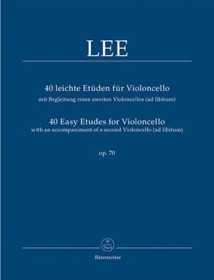 40 Etudes faciles pour Violoncelle Op 70 Lee Partition laflutedepan
