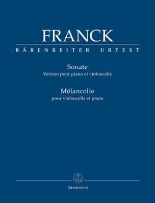 Sonate et Mélancolie FRANCK Partition Violoncelle - laflutedepan