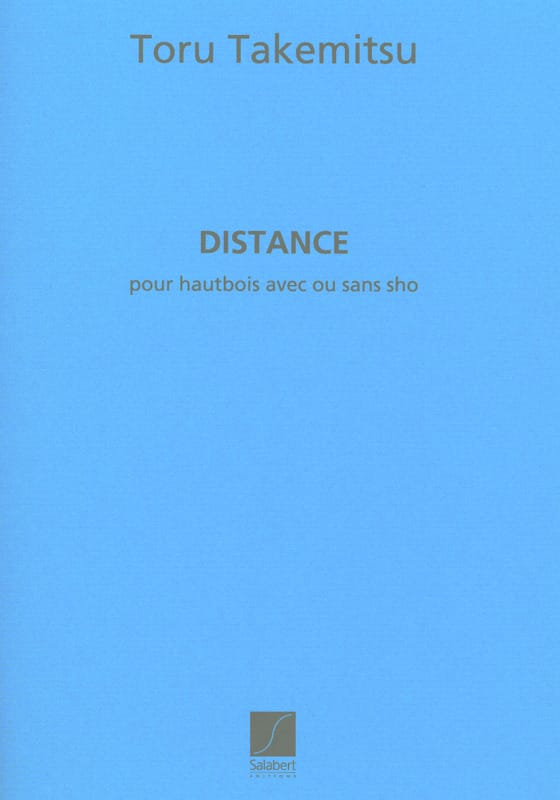 Distance - TAKEMITSU - Partition - Hautbois - laflutedepan.com