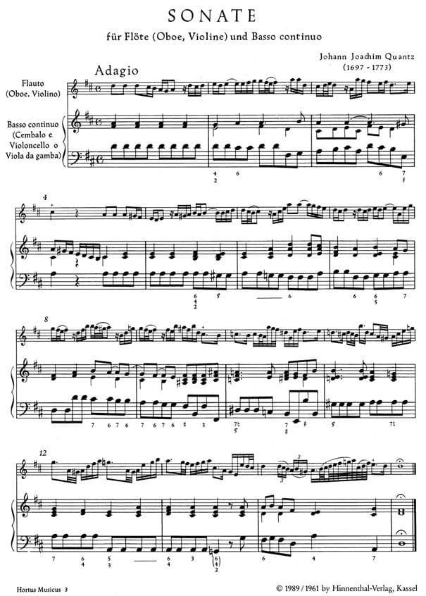 Konzert A-moll für Violine - Partitur - TELEMANN - laflutedepan.com