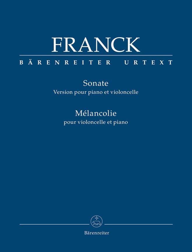 Sonate et Mélancolie - FRANCK - Partition - laflutedepan.com