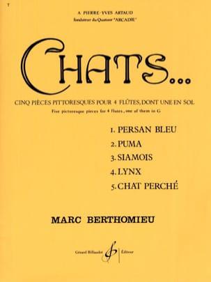 Chats - 4 Flûtes Marc Berthomieu Partition laflutedepan