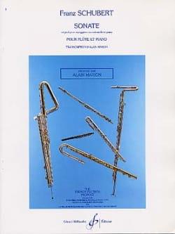 Sonate Arpeggione SCHUBERT Partition Flûte traversière - laflutedepan