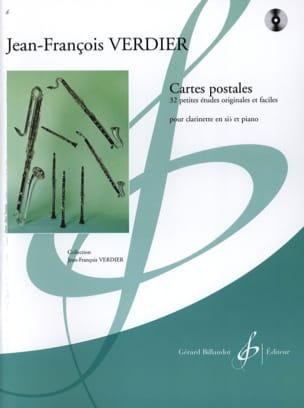 Cartes Postales Jean-François Verdier Partition laflutedepan