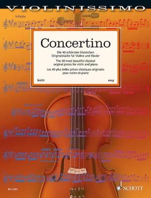 Concertino Partition Violon - laflutedepan