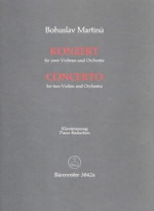 Konzert -2 Violinen Klavier - MARTINU - Partition - laflutedepan.com