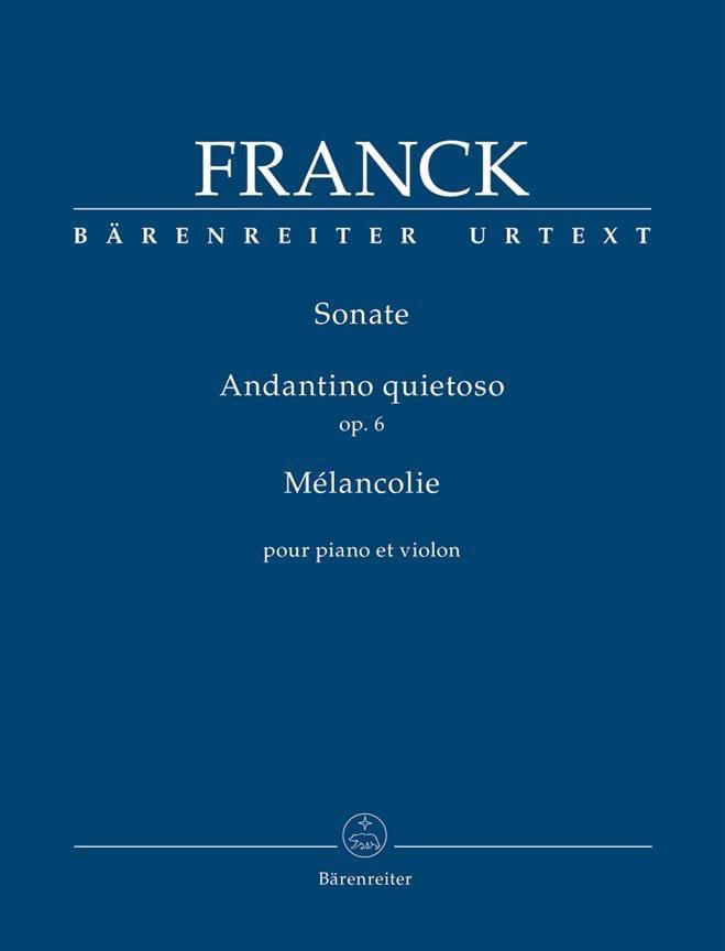 Sonate / Andantino quietoso / Mélancolie - Violon et piano - laflutedepan.com