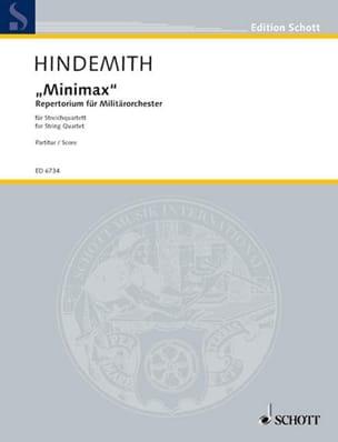 Minimax - Streichquartett - Partitur HINDEMITH Partition laflutedepan