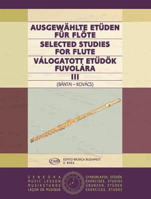 Bantai Vilmos / Kovacs Gabor - Estudios seleccionados para flauta - Volumen 3 - Partition - di-arezzo.es