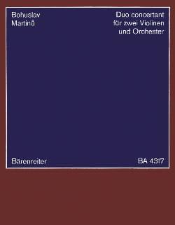 Duo concertant -2 Violinen Klavier MARTINU Partition laflutedepan