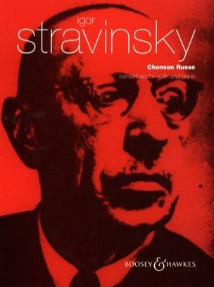 Chanson Russe STRAVINSKY Partition Violon - laflutedepan