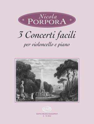 3 Concerti facili Nicola Antonio Porpora Partition laflutedepan