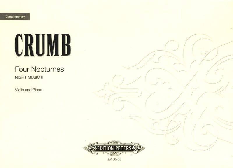 4 Nocturnes - George Crumb - Partition - Violon - laflutedepan.com