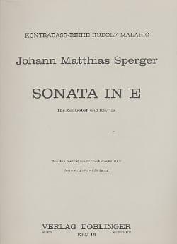 Sonata E-Dur - Kontrabass Johann Matthias Sperger laflutedepan