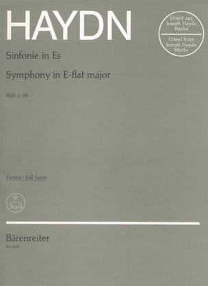 Symphonie N° 99 Es-Dur - Partitur HAYDN Partition laflutedepan