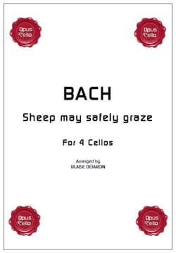 Sheep may safely graze BACH Partition Violoncelle - laflutedepan