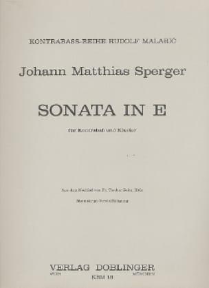 Sonata E-Dur - Kontrabass - Johann Matthias Sperger - laflutedepan.com