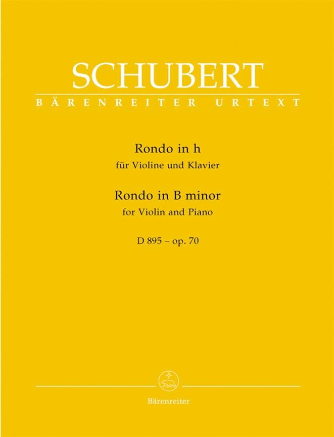 Rondo en Si Mineur Op.70 - D895 - SCHUBERT - laflutedepan.com