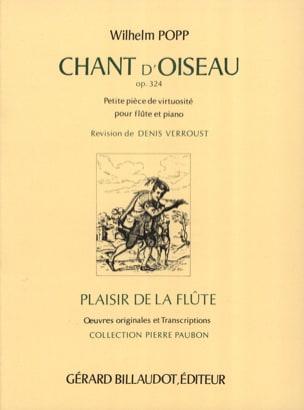 Chant d'Oiseau Op. 324 Wilhelm Popp Partition laflutedepan