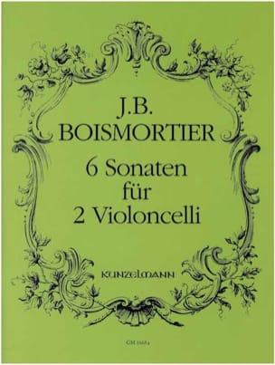 6 Sonaten für 2 Violoncelli BOISMORTIER Partition laflutedepan