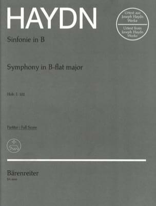 Symphonie Nr. 102 B-Dur - Partitur - HAYDN - laflutedepan.com