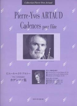 Cadences Pour Flûte Mozart - Pierre-Yves Artaud - laflutedepan.com