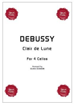 Clair de Lune for 4 cellos DEBUSSY Partition laflutedepan