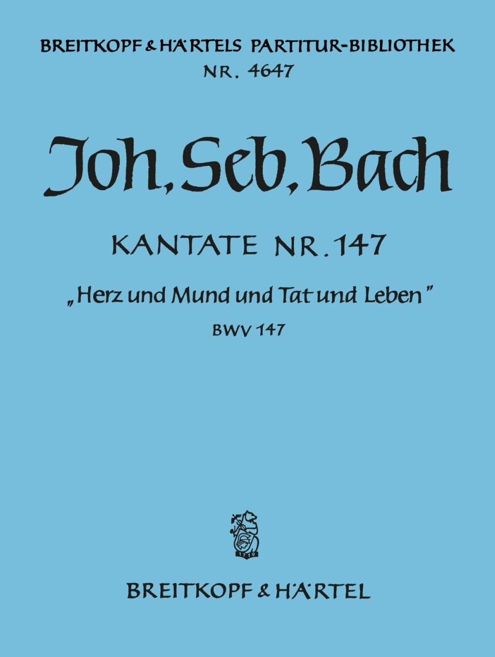 Kantate 147 Herz und Mund und Tat und Leben - Conducteur - laflutedepan.com