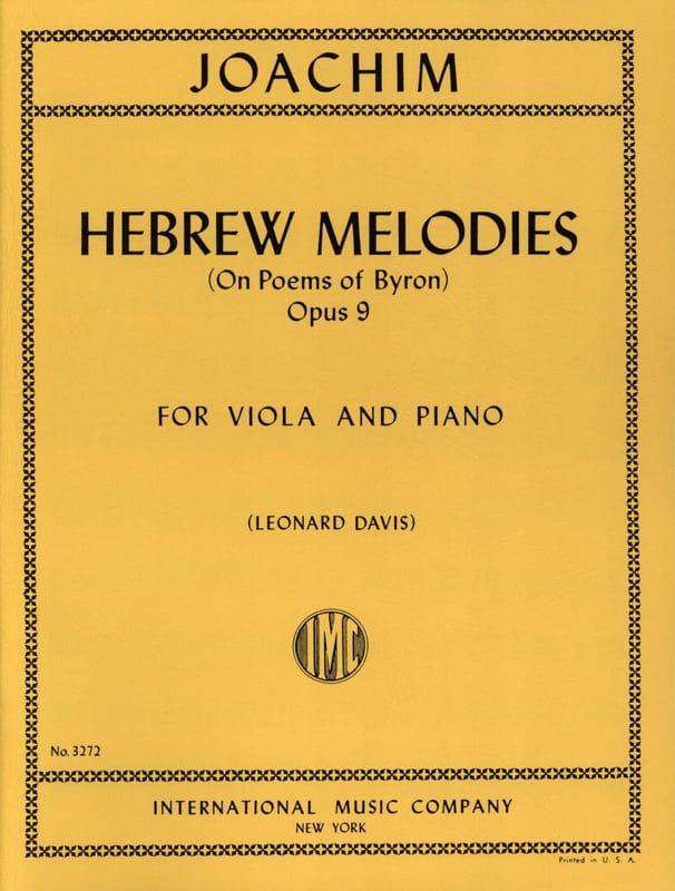 Hebrew melodies op. 9 - Joseph Joachim - Partition - laflutedepan.com
