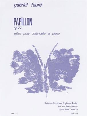 Papillon op. 77 FAURÉ Partition Violoncelle - laflutedepan