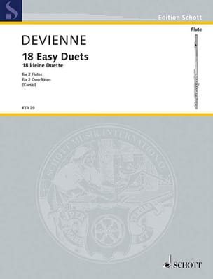 18 Kleine Duette - 2 Flöten DEVIENNE Partition laflutedepan