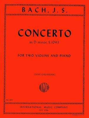 BACH - Concerto D minor BWV 1043 - 2 Violins piano - Partition - di-arezzo.com
