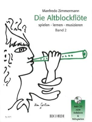 Die Altblockflöte Band 2 - Manfredo Zimmermann Partition laflutedepan