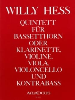Quintett op. 95 - Partitur + Stimmen Willy Hess Partition laflutedepan