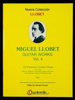 Guitar Works Vol 4 12 Duos Miguel Llobet Partition laflutedepan