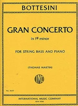 Gran Concerto Fa# Min. BOTTESINI Partition Contrebasse - laflutedepan