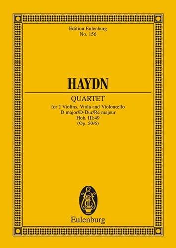 Streich-Quartett D-Dur op. 50 n° 6 - HAYDN - laflutedepan.com