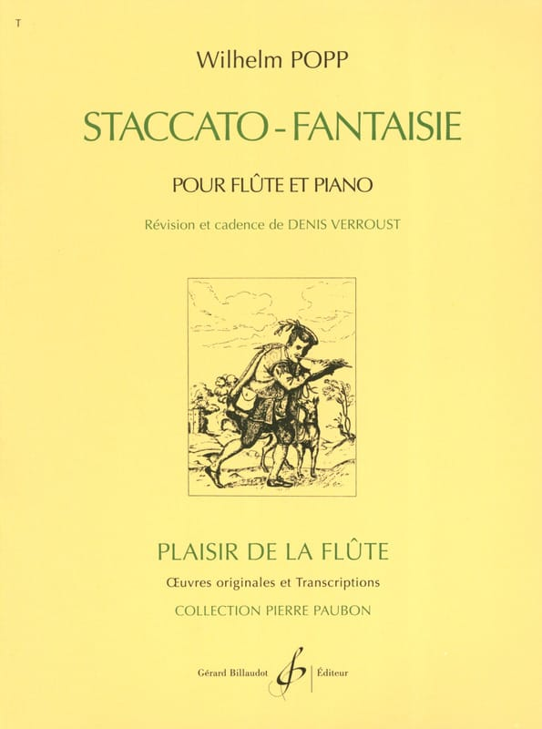 Staccato Fantaisie - Wilhelm Popp - Partition - laflutedepan.com