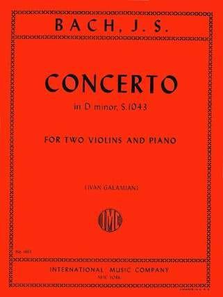 Concerto D minor BWV 1043 -2 Violins piano - BACH - laflutedepan.com
