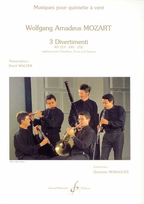3 Divertimenti KV 213, 240, 252 -Quintette à vent - laflutedepan.com