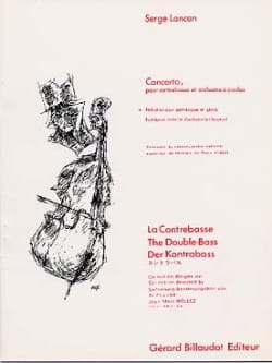 Concerto - Contrebasse Serge Lancen Partition laflutedepan