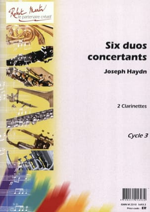 6 Duos concertants HAYDN Partition Clarinette - laflutedepan