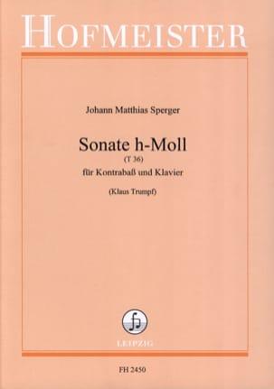 Sonate h-Moll T 36 Johann Matthias Sperger Partition laflutedepan