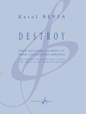 Destroy Karol Beffa Partition Quintettes - laflutedepan