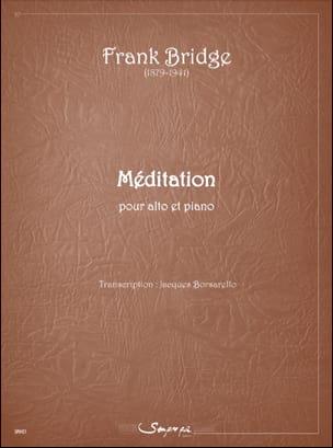 Méditation Frank Bridge Partition Alto - laflutedepan