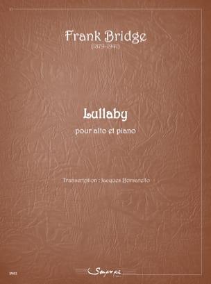 Lullaby Frank Bridge Partition Alto - laflutedepan