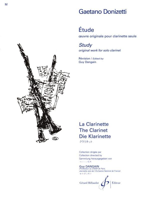 Etude - DONIZETTI - Partition - Clarinette - laflutedepan.com