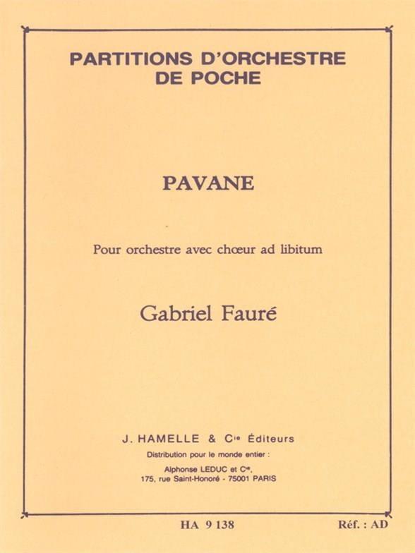 Pavane op. 50 - Conducteur - FAURÉ - Partition - laflutedepan.com