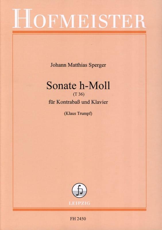 Sonate h-Moll T 36 - Johann Matthias Sperger - laflutedepan.com