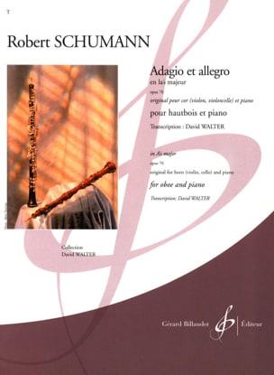 Adagio et Allegro en Lab Maj. op. 70 SCHUMANN Partition laflutedepan